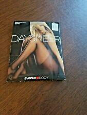 Avenue Body Pantyhose Plus Size C Nude Control Top Nylon Invisible Toe