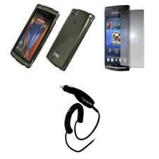 for Sony Ericsson Xperia ARC Smoke Case+MSP+Car Charger
