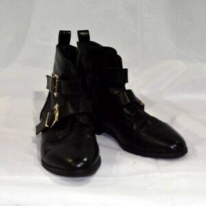 River Island Wide Fit Ankle Boots Buckle EUR38/UK5 - Black