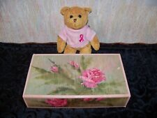 Avon Breast Cancer Bear w/ 3 Pink Rose Soaps