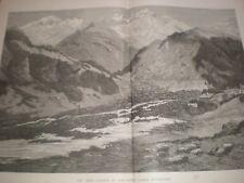 Great landslip at Elm Canton Glarus Switzerland 1881 print ref AV