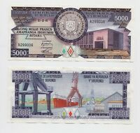 BURUNDI: 5000 FRANCS  Issued series 01.10.1981 Banknote  PICK  32 in UNC