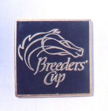 Undated Square Black & Gold Breeders Cup Lapel Pin in MINT Condition