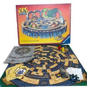 Vintage The Secret Labyrinth Family Board Game Ravensburger, 1998, Complete