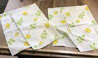 Vintage Pillowcase Pair Yellow Rose Long Stem Roses Standard