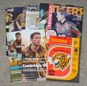 8 Hull City Home Football Programmes – 1983-2002 – All Listed
