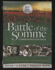 NEUF COFFRET box set BATTLE OF THE SOMME BOOK + 2 DVD + TRENCH MAPS  war