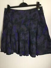 Full Circle Black Print Cotton Skirt. Size 12UK. Ex Cond