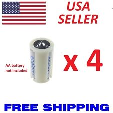 4 x Plastic Parallel AA Battery Adapters Holder 1.5V Converter 3 AA To 1 D Size