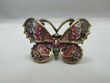 Jay Strongwater Multi-Color Crystal Pave Enamel Butterfly Pin Brooch