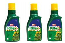 3 X 1L BOTTLES - KILLEX WEED KILLER -  CONCENTRATE - 428 Litres max. once mixed