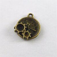 Weinlese Bronze Legierung Mechanische Uhr Schmuck Handwerk Fittings Kunst 40X