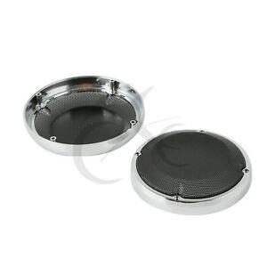 "6.5"" Saddlebag Lid Speaker Grill Cover Fit For Harley Touring Road Glide 83-20"