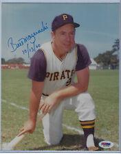 Bill Mazeroski Signed 8 x 10 PSA / DNA