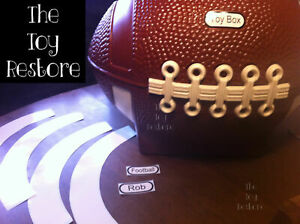 Replacement Decals Stickers fits Little Tikes Football Toy Box Customize