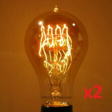 2-Pack LUMIN 30W A21 Edison Victorian Loop Filament Antique Light Bulb 30 Watt