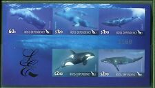 Ross Dependency 2010 Whales of the Ocean - Limited Edition Imperf Sheet of 5
