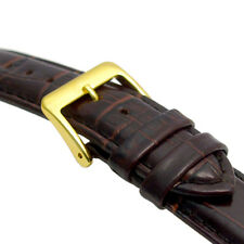 Padded Croc Grain Genuine Leather Watch Strap band 18mm 20mm 22mm C024