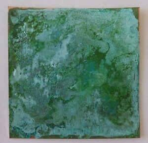 Green / White (Tiffany Green) Patina mix for Copper, Brass, Bronze - make 250ml