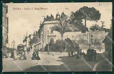 Roma Città Salita di Magnanapoli Tram cartolina QT1965
