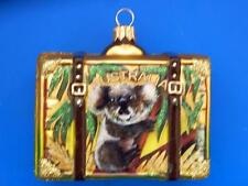 AUSTRALIA VACATION SUITCASE LUGGAGE TRUNK GLASS CHRISTMAS ORNAMENT SYDNEY OUTBAC