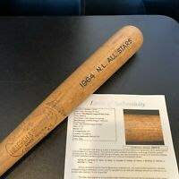 Roberto Clemente Willie Mays Hank Aaron 1964 All Star Game Team Signed Bat JSA
