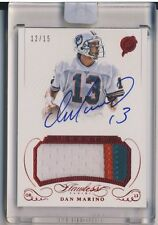 DAN MARINO 2015 Panini Flawless Greats AUTO JERSEY PATCH RUBY /15 DOLPHINS HOF