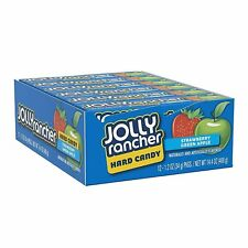 Jolly Rancher Hard Candy Strawberry and Apple Box of 12 x 34g Packets BB 09/2020