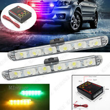 Amber Green 2X 6 LED Car Truck Emergency Warning Strobe Flash Light Lamp Control