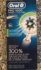 """Oral-B Pro 1000 """"Cross Action"""" Rechargeable Battery-Powered Toothbrush - New"""