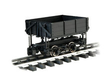 Bachmann 92503 BLACK WOOD SIDE DUMP CAR WITH METAL WHEELS & KNUCKLE COUPLERS