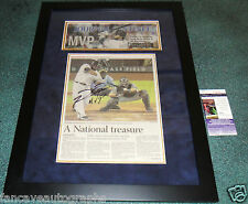 PRINCE FIELDER MVP Signed Milwaukee Brewers Framed AS ALL STAR NEWSPAPER JSA COA