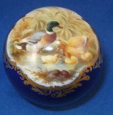 Antique Meissen Porcelain Duck Scene Scenic Cane Handle Porzellan Parasol Griff