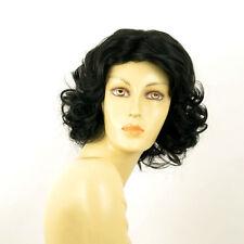 Perruque femme mi longue bouclée noir KAISSY 1B