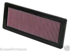K&N HIGH FLOW AIR FILTER FOR PEUGEOT 208 1.6 GTi (12-13)