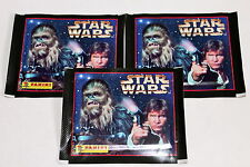 Panini STAR WARS (1996) 3 x Tüte Packet Bustina, Motiv HAN SOLO Selten! Rare!