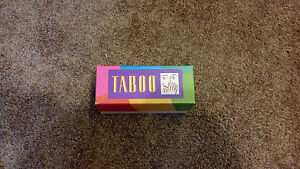 1989 Taboo Game Milton Bradley Replacement Card Set