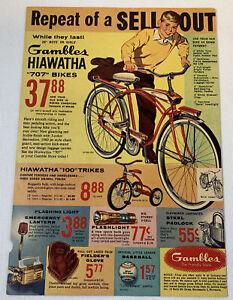 1960 Gambles HIAWATHA bicycle ad page