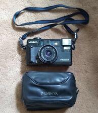 Minolta Hi-Matic AF2-M 35mm Point & Shoot Black Film Camera Japan *TESTED* #021