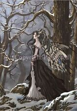 Nene Thomas Faery Fairy HOPE Print Signed LE RETIRED Limited Edition Snow Winter