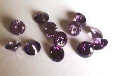 CZ Round Amethyst Purple 2mm 4mm 6mm 8mm 10mm Loose AAA Cubic Zirconia Gemstone