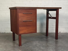 WALNUT MID-CENTURY MODERN 2-DRAWER DESK ~ BY JOFCO / JASPER DESK