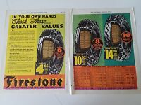 1932 Firestone Tires Cord Plies Price Chart Greater Value Original Ad