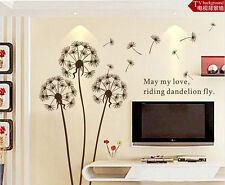 diy gift Dandelion Wall Sticker Wall Mural Home Decor Room Decals Wallpaper