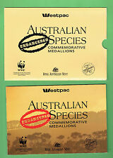 #D169. SET OF WESTPAC AUSTRALIAN ENDANGERED SPECIES MEDALS