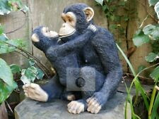 Monkey With Baby Garden Ornament, Monkey Garden Ornament