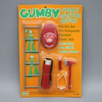 Vintage 1965 Gumby Fireman Adventure Costume Tools Set Firefighter New Unopened