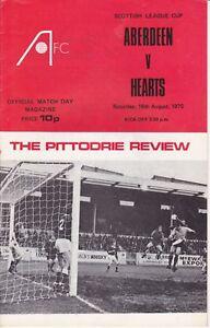 Aberdeen Home Programmes Season 1975-1976