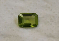 NATURAL PERIDOT GEMSTONE FACETED 6X7.5MM BAGUETTE CUT LOOSE 1.1CT GEM PE09B