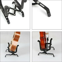 Professional Folding Electric Acoustic Bass Guitar Stand Frame Floor Rack Holder
